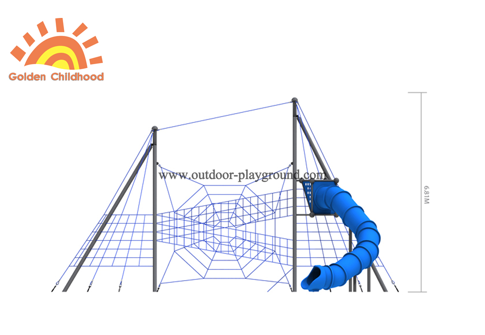 outdoor discovery playground with tube front size