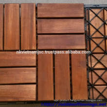 High Quality Deck Tiles 30x30x1.9 cm - Long Lasting Outside by Oil Coating