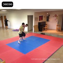 Piso de Artes Marciais - Azul Vermelho Cor EVA Karate Floor Mat