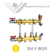 EM-F-B029 High quality underfloor heating brass manifold with ball valve
