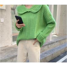2020 neuer französischer Kragenpullover mit losem Pullover