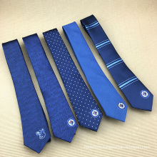 Chinese Manufacturer Mens Silk Jacquard Woven Custom Embroidered Tie