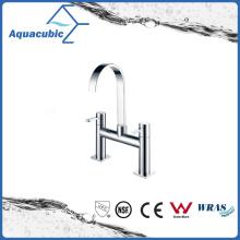 Double Holes Dual Handle Bathtub Faucet in Polish Chrome (AF1511-2B)