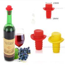 Enchufes de tapones de silicona de botella de vidrio de colores personalizados