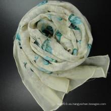 Bufanda larga de lana para invierno