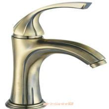 Misturador de bacia de bronze de louças sanitárias único punho
