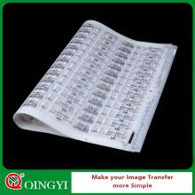 custom sticker label heat transfer printing service from China