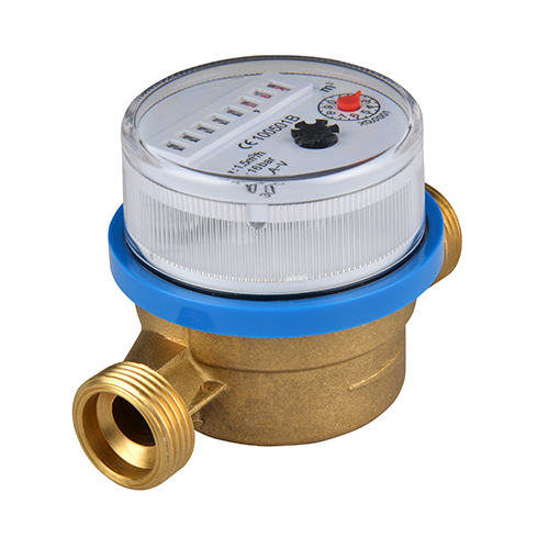 Brass Body Dry Type Single Jet Mechanical Water MetersRussia Water Meters