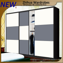 Armoire portes coulissantes pour meubles de chambre à coucher