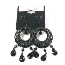 AAA Lace Black Earring with Metal Cheaper