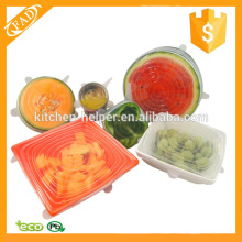 Reutilizável Melhor Silicone Food Cover Set of 6