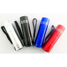 Mini promotionnel 9LED Flashlight Gift Flashlight Portable Pocket Flashlight