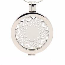 Hot sale custom stainless steel coin locket pendant jewelry