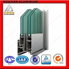 Perfis de alumínio para portas deslizantes e janelas