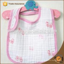6-ply gauze cotton fabric baby bibs,100% cotton baby bib