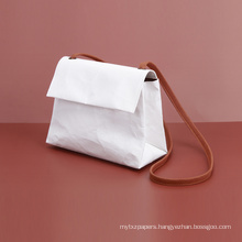 Kraft Paper Mini Pouch White Sling Bag Ladies Shoulder Bag