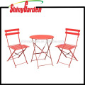 3 Piece Metal Outdoor Patio Cheap Bistro Set,Stainless Steel Folding Outdoor Table And Chair