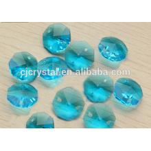 Perlas sueltas de octágono de diamantes de imitación para la lámpara