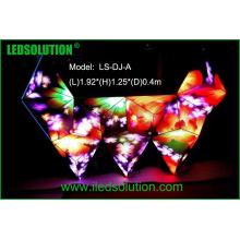 Tela de exposição interna criativa da cabine do diodo emissor de luz da cor completa do DJ