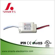 AC atual do plástico da corrente constante do UL IP20 350ma 6w 9w ao motorista do diodo emissor de luz da CC para MR16