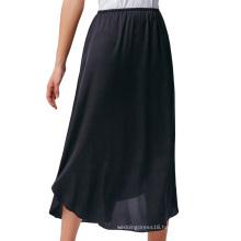 "Kate Kasin Women's 35"" Comfortable Satin Waist Slip Half Slip Undergarment KK000264-1"