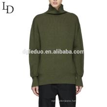 Latest design oversized pullover turtleneck wool sweater for men