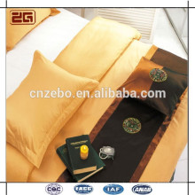 Latest design Factory Made wholesale commercial jacquard bed scarf for hotel