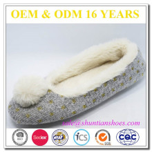 Open Toed Plaids Cloth Yellow Slipper