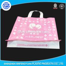 Venta directa de la fábrica de la bolsa de plástico del asa suave de la promoción Shenzhen