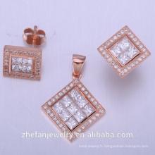 set bijoux collier accessoires de mariage
