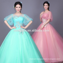 Ball Gown Long 2017 Mint Green Quinceanera Vestidos Sweetheart Bodice Prom Dress