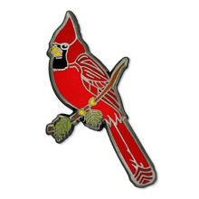 Classic Red Cardinal Bird Enamel Lapel Pin