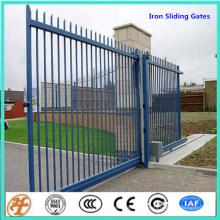 diseño de una valla de hierro de seguridad cómoda Puertas correderas