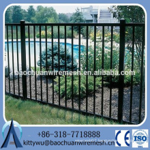 Rodent proof Wrought Iron fence , Renewable Source Aluminum Fence panels, Anti-rust steel fence
