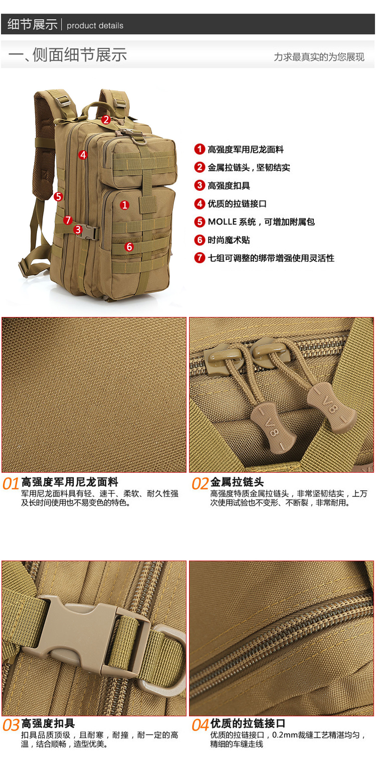 Mountain military backpack