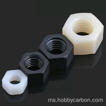 Nylon Lock Plastic Black And White Nuts