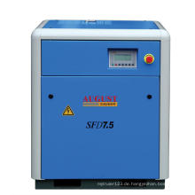 7,5 kW / 10 PS August Stationärer luftgekühlter Schraubenkompressor