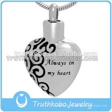 Herz-Urne-Schmuck-Asche-Anhänger für Halskette immer in meinem Herzen 2015 Urne Schmuck für Anhänger China Lieferant