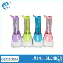 Mini mélangeur électrique coloré matériel 600cc / ml de bouteille de Tritan sans BPA