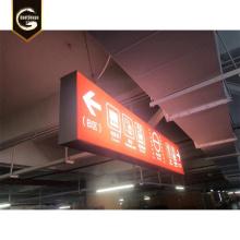 Einkaufszentrum Weg finden LED Pfeil Zeichen Leuchtkasten