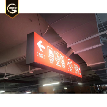 Centro comercial Way find led arrow signs lightbox