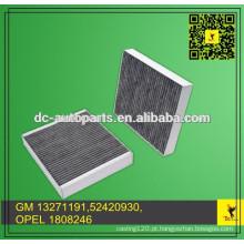 GM 13271191,52420930, OPEL 1808246, FRAM CF10775, MANN & HUMMEL CUK2442, WIX 24191 PARA filtro de ar de carbono