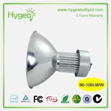 Haute puissance conduit haute lumière de la baie 100W 3 ans de garantie industrielle LED high bay light fixture