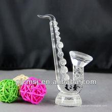 оптовая кристалл саксофон для сувениров