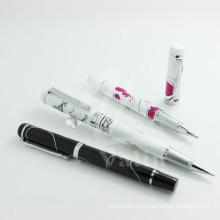 Einzigartiges Design Metall Logo Design Pen Siebdruck Werbe-Kugelschreiber
