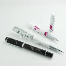 Caneta promocional da caneta de seda com design exclusivo para design de logotipo de metal