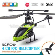 Feilun RC helicóptero FX069 2,4 G 4ch seis eixos giroscópio pequeno helicóptero de controle para o certificado do CE/FCC/ASTM venda