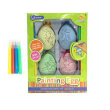 Colouring easter egg wrap colgante
