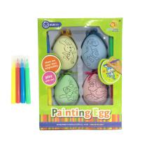 Pingente de pintura de ovo de páscoa para colorir