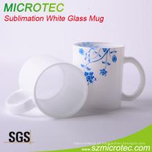 Caneca revestida branca do vidro da sublimação 11oz (MT-B025)